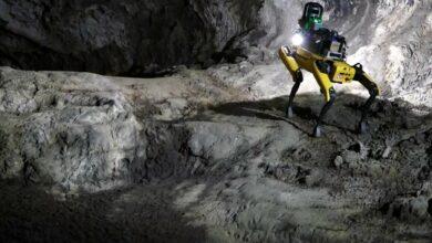 Robotický pes NASA Au-Spot se připravuje na průzkum marsovských jeskyní